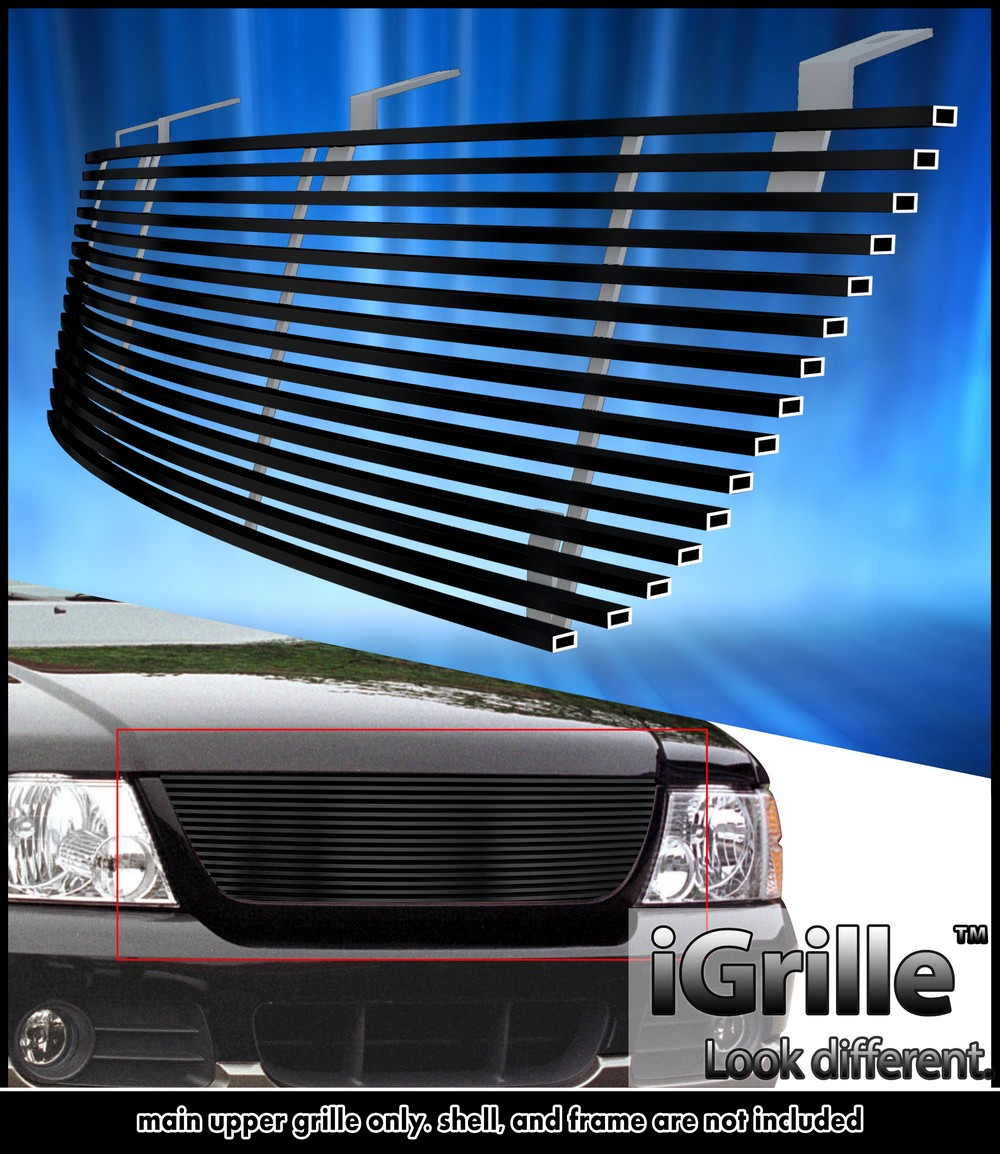 egrille fits 2002 2005 ford explorer black stainless steel. Black Bedroom Furniture Sets. Home Design Ideas