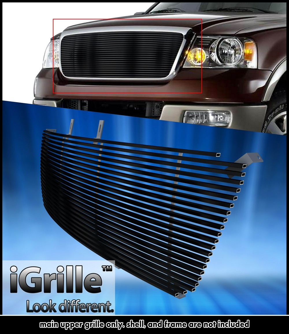Fits 2004 2008 Chrysler Crossfire Billet Grille Grill: EGrille Fits 2004-2008 Ford F-150 Black Stainless Steel