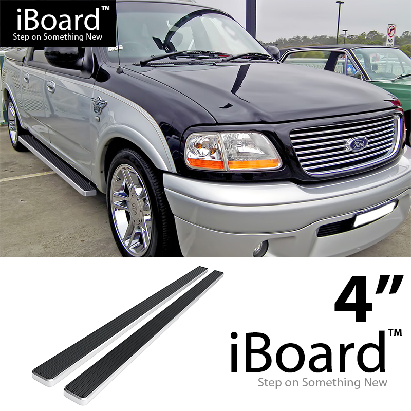 """Running Boards 4"""" Fit 2001-2003 Ford F150 SuperCrew Cab"""