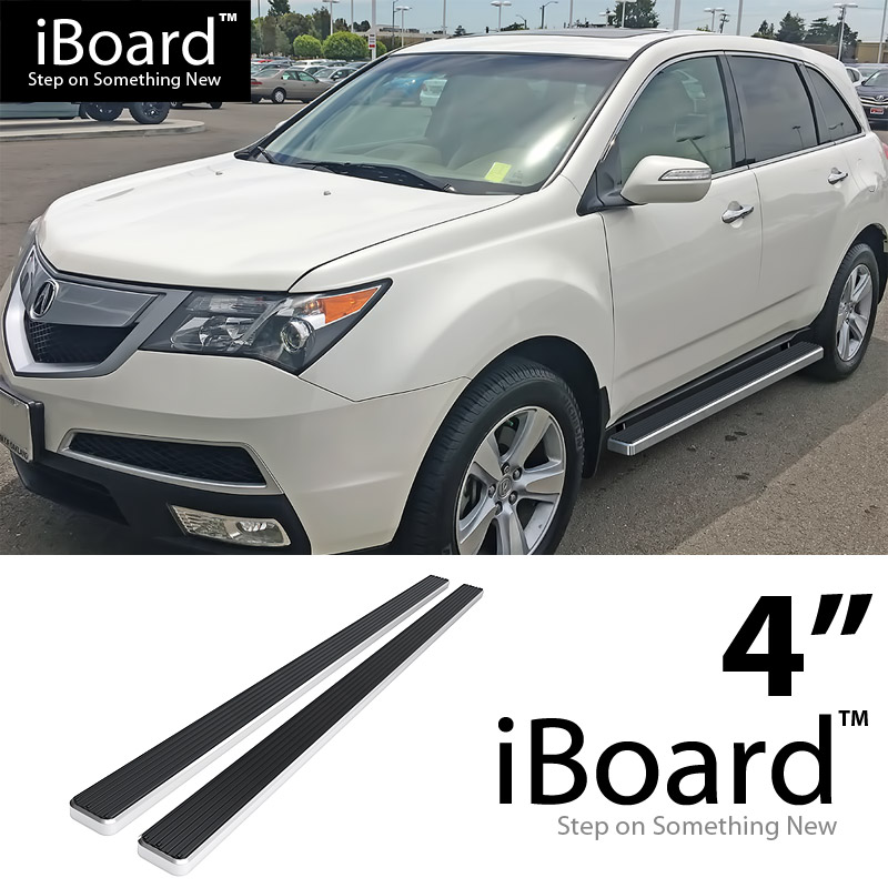 "4"" Silver EBoard Running Boards For 2007-2010 Acura MDX 4"