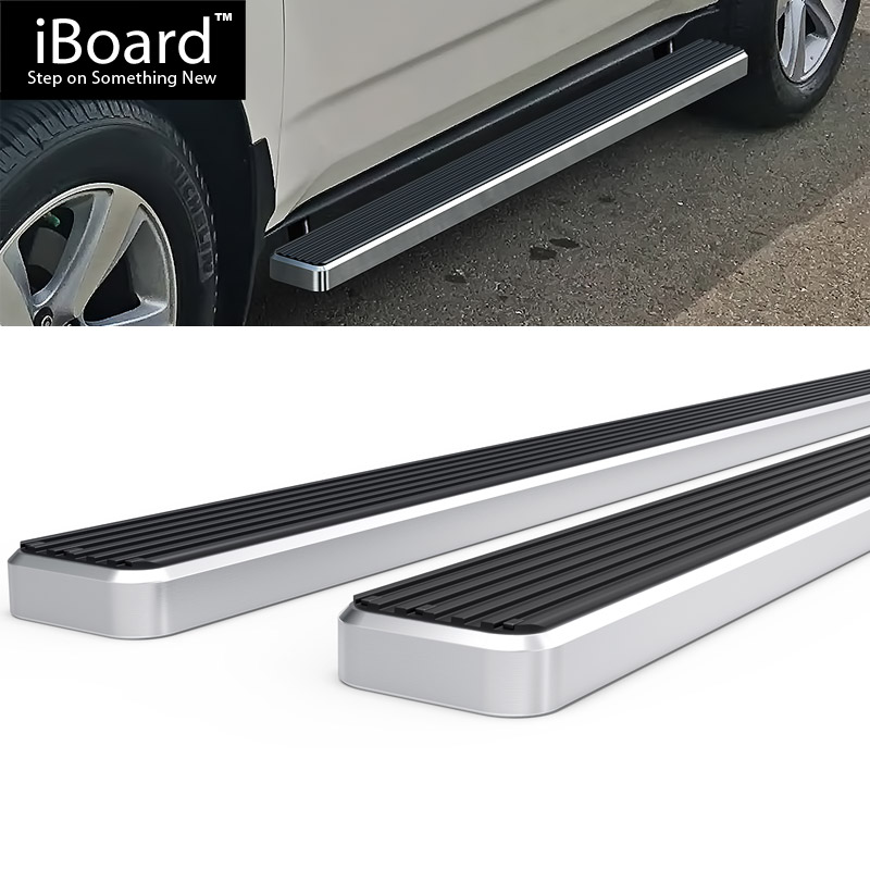 """4"""" Silver EBoard Running Boards For 2007-2010 Acura MDX 4"""