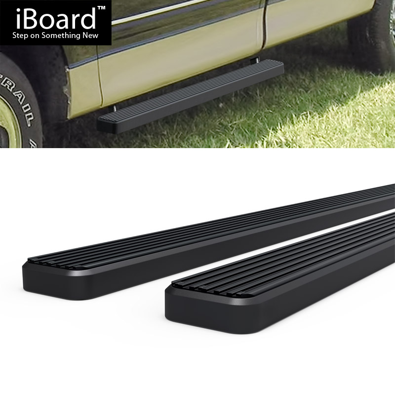 """4/"""" Black eBoard Running Boards Fit Ford F150//F250LD SuperCrew Cab 01-03"""