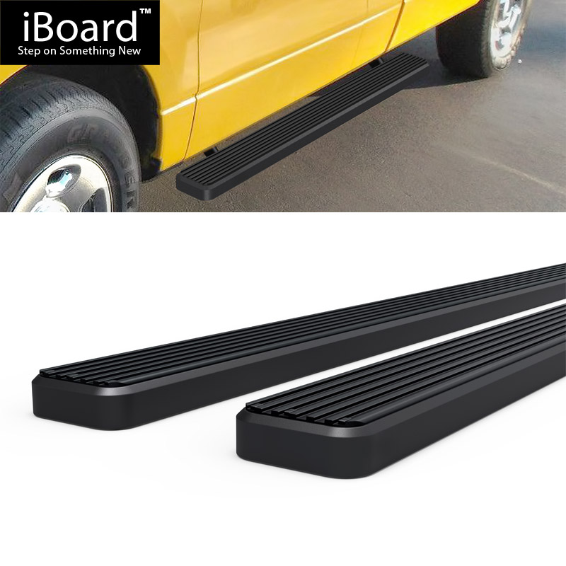 """4/"""" Black eBoard Running Boards Fit Ford F150 SuperCrew Cab 04-08"""