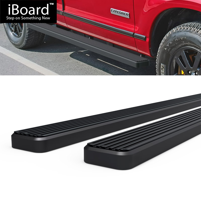 "EBoard Running Boards Black 4"" Fit 2006-2010 Ford Explorer"