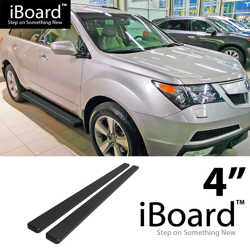 "4"" Black EBoard Running Boards Fit Acura MDX 07-10"