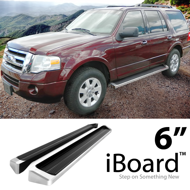 "1997 Ford Expedition For Sale: 6"" Silver Running Boards For 1997-2016 Ford Expedition"