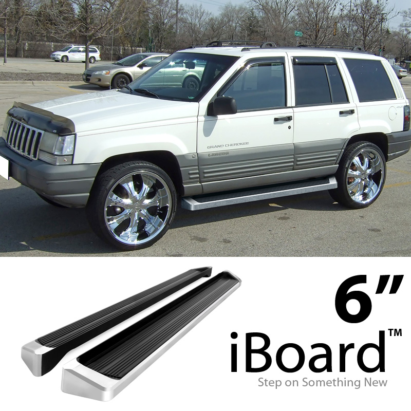 6 eboard running boards fit jeep grand cherokee laredo 94 98 647297034631 ebay. Black Bedroom Furniture Sets. Home Design Ideas