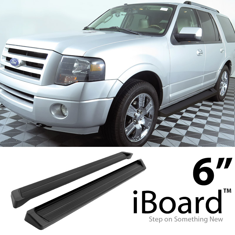 "1997 Ford Expedition For Sale: 6"" Black Running Boards For 1997-2016 Ford Expedition"