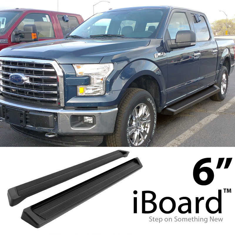 """running boards 6"""" for 15-18 ford f150 supercrew cab 4-door & 2017"""