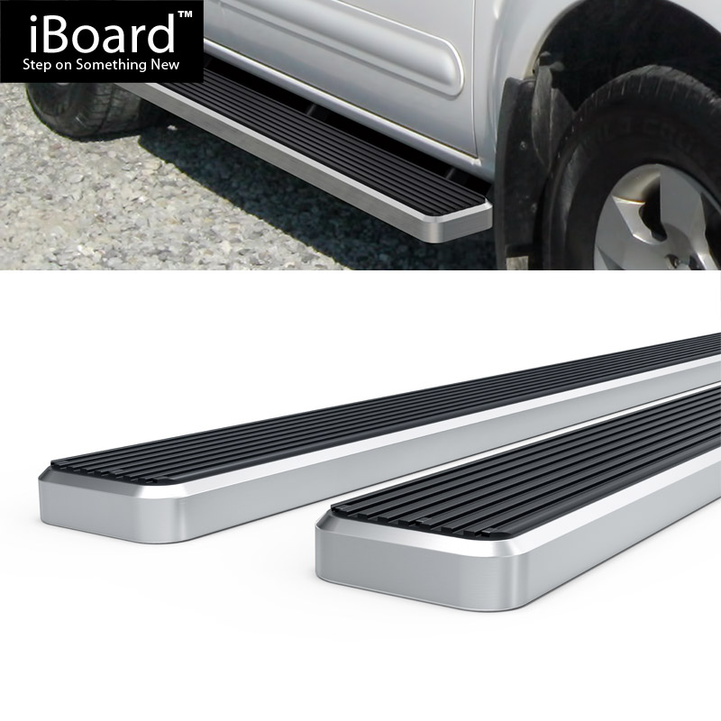 "4/"" Black iBoard Running Boards Nerf Bars Fit 05-12 Nissan Pathfinder"