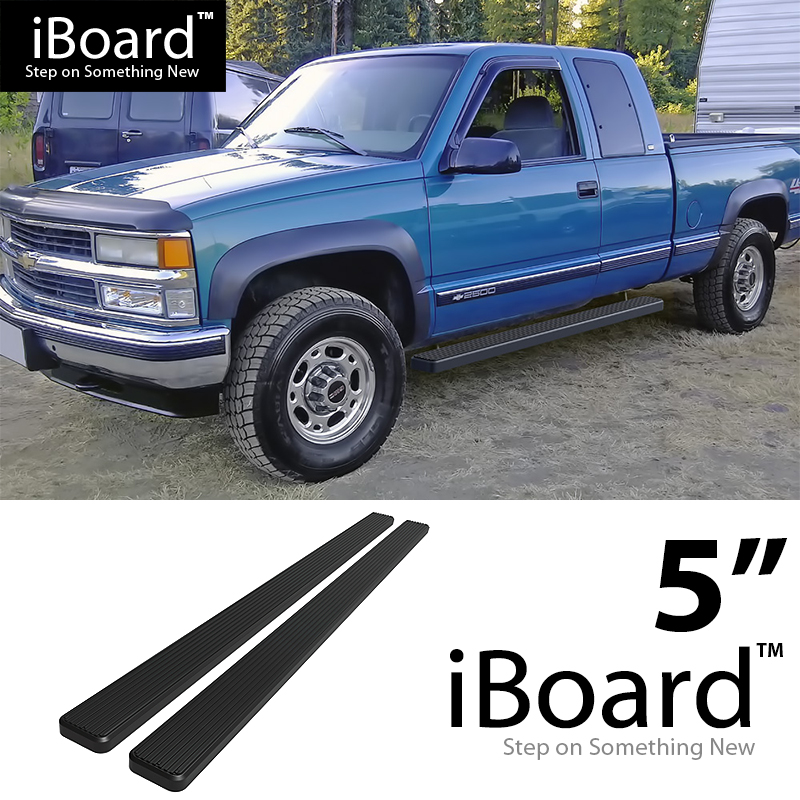 "5"" Black EBoard Running Boards For 88-98 Chevy/GMC C/K"
