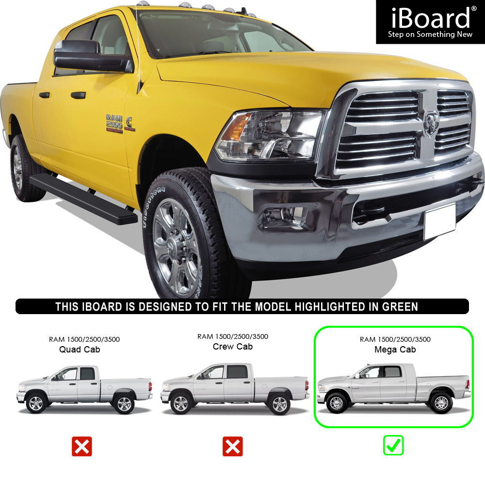 "2010 Dodge Ram 2500 Regular Cab Exterior: 5"" Black EBoard Running Boards For 2010-2018 Dodge Ram"