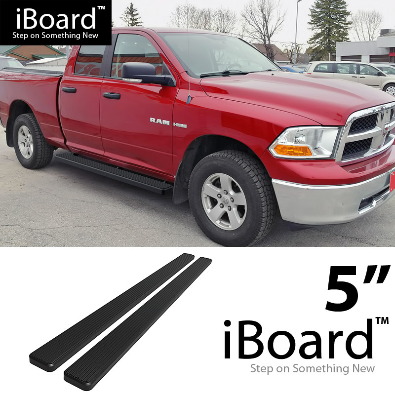 Ram 1500 Running Boards >> 5& BLACK eBoard Running Boards For 2009-2018 Dodge Ram 1500 Quad Cab Pickup - CAD $233.61 ...