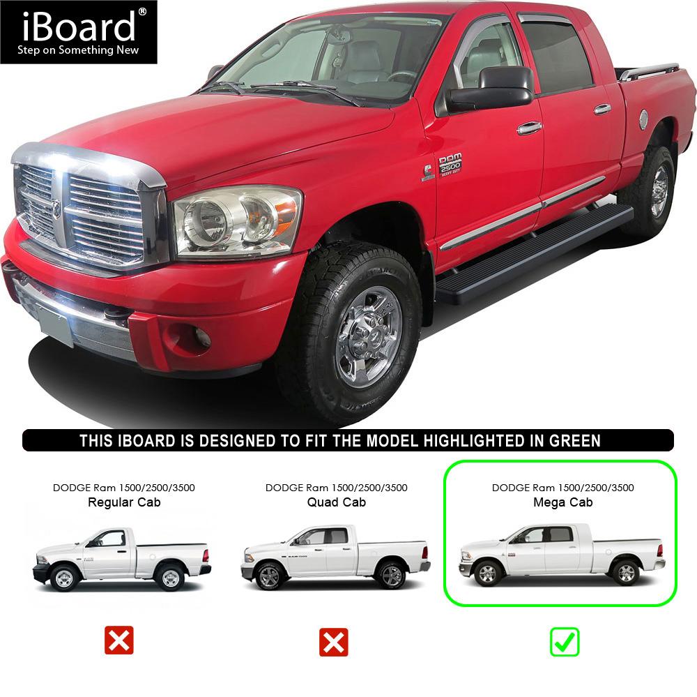 """Dodge Ram 1500 4 Door: Running Boards 5"""" Fit 06-08 Dodge Ram 1500 Mega Cab 4-Door"""