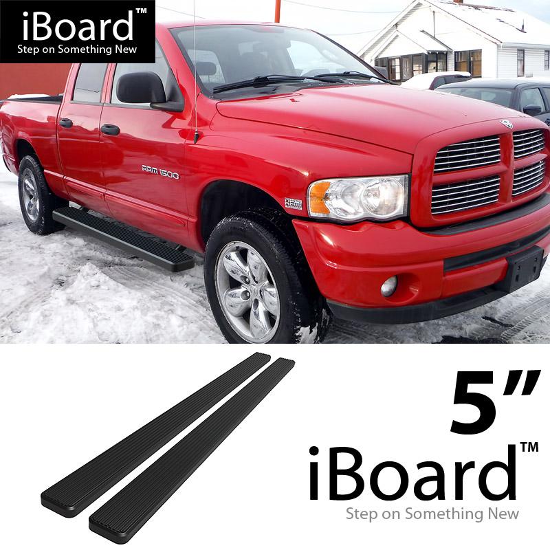 "5"" Black Running Boards For 02-08 Dodge Ram 1500 Quad Cab"