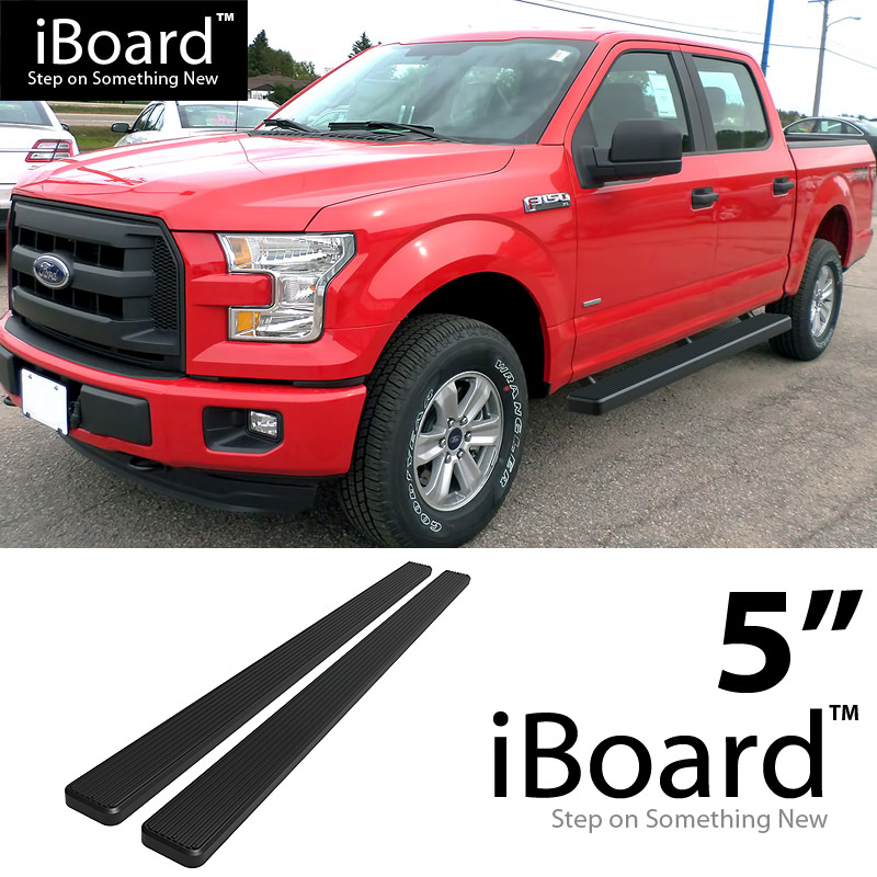 """5"""" black running boards for 15-18 ford f150 supercrew cab/ ford f250"""