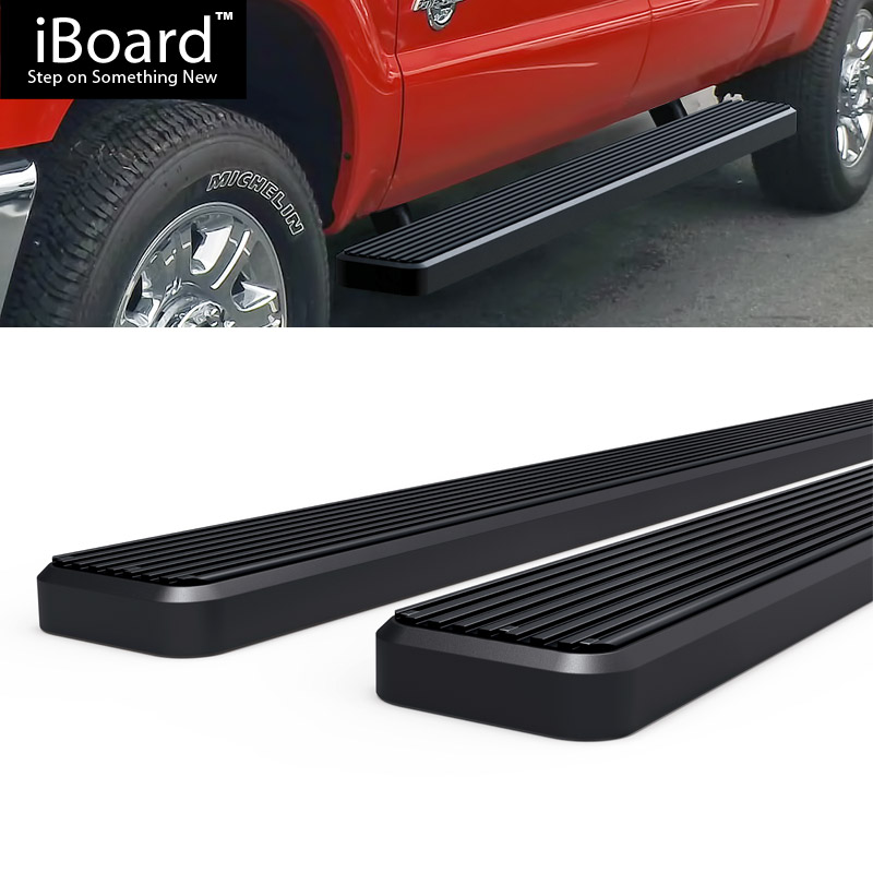 """Running Boards Black 5"""" Fit 1999-2016 Ford F250 / F350"""