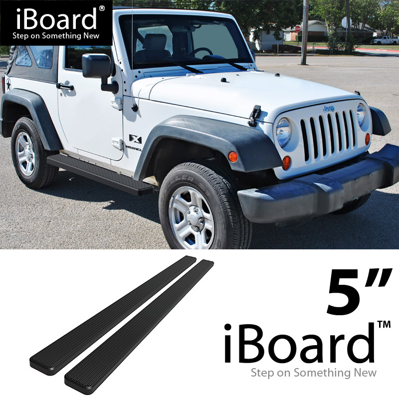 "eBoard Running Boards Black 5"" Fit 2007-2017 Jeep Wrangler ..."