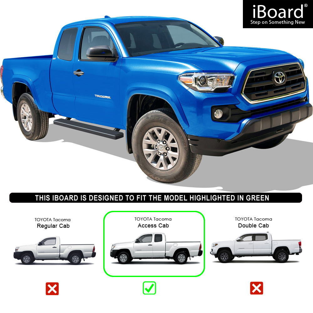 Eboard Running Boards Black 5 Quot Fit 2005 2018 Toyota Tacoma